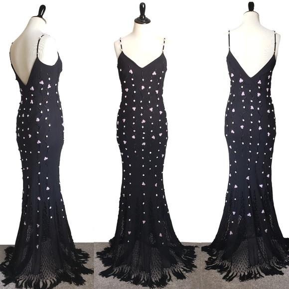 Sue Wong Dresses & Skirts - Sue Wong black beaded gown silk long dress